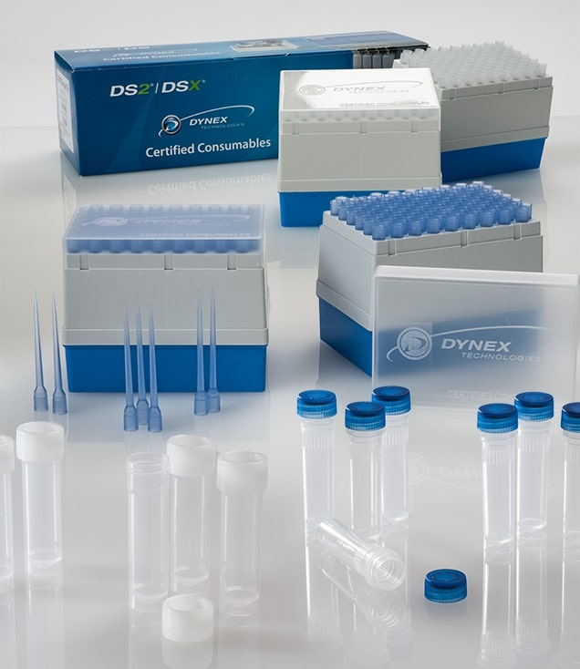 Dynex consumables for automated ELISA machines